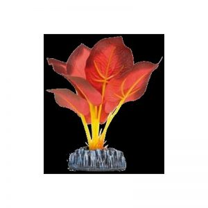 Planta artificial Seda Ninfa roja 14 cm
