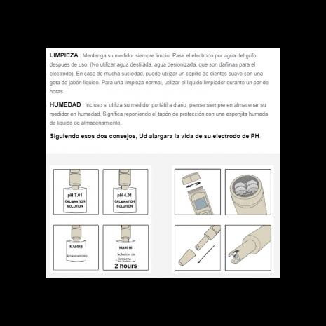 Medidor pH y Temperatura (Adwa)