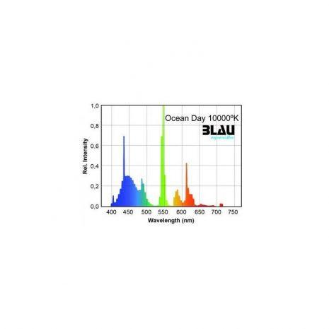 Fluor. T5 Serie Platinun. Ocean Day 10.000ºK (Blau) 24 w 549 mm