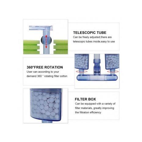 Filtro por compresor doble filtración XYF-2882 (Sunsun)