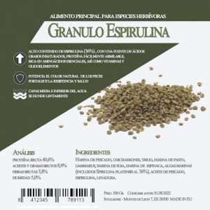 Granulo Espirulina 100 grs (Aquamail) 100 grs