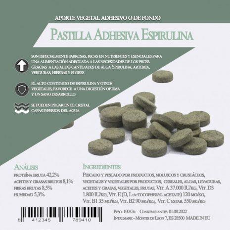 Pastilla Adhesiva Espirulina (Aquamail) 100 grs