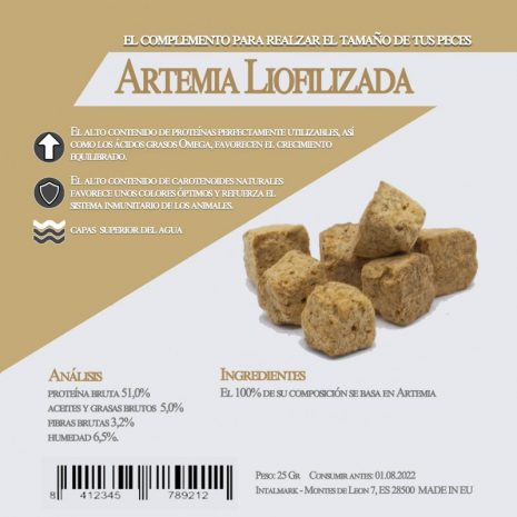 Artemia Liofilizada (Aquamail) 25 grs.
