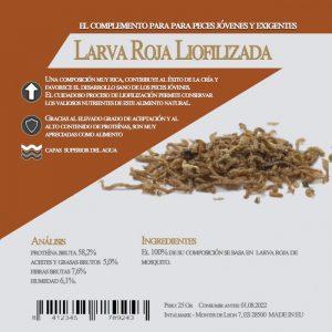Larva roja de mosquito (Aquamail) 25 grs