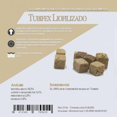 Tubifex Liofilizado (Aquamail) 25 grs