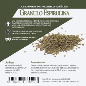 Granulo Espirulina 450 grs (Aquamail) 100 grs