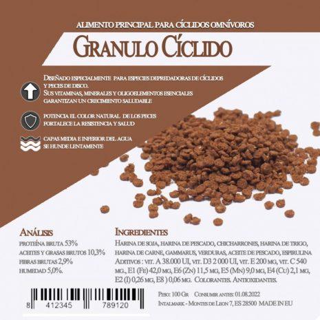 Granulo Cíclidos (Aquamail) 550 grs