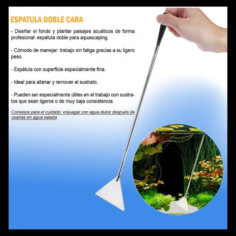Espátula doble cara 32 cm (Sunsun)