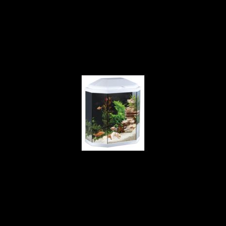 Acuario Aqua 30 LED (Ciano) Color blanco